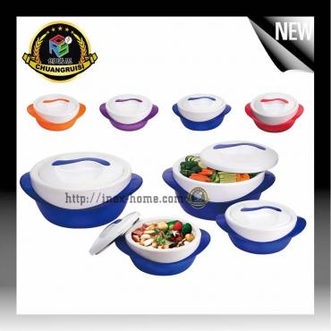 4pcs set plastic hot pot thermo food container