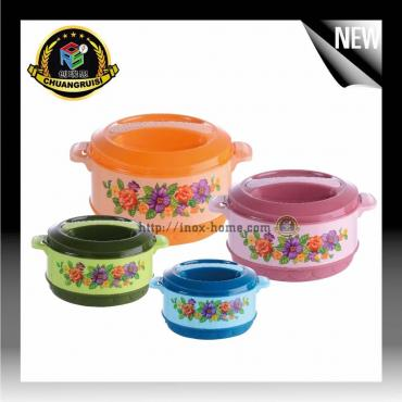 4 pieces pp plastic lunch box food storage container