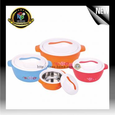 4pcs plastic food warmer container hot pot lunch box
